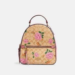 Coach Jordyn Backpack Signature Prairie Rose Print